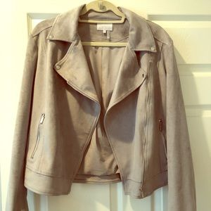 Nordstrom Faux Suede Grey Jacket